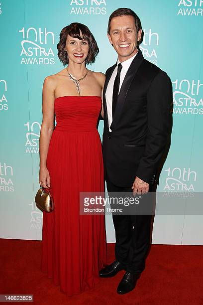 Tasma Walton and Rove McManus arrive at the 10th annual Astra Awards at the Sydney Theatre on June 21 2012 in Sydney Australia