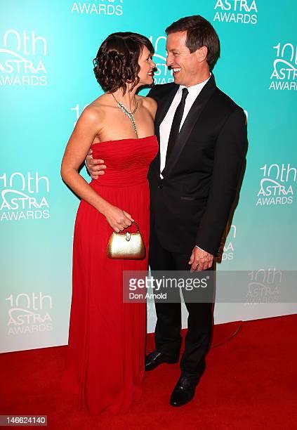 Tasma Walton and Rove McManus arrive at the 10th annual Astra Awards at Sydney Theatre on June 21 2012 in Sydney Australia