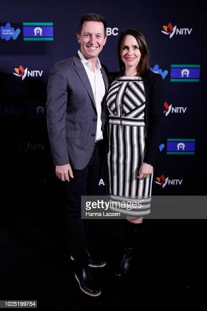 Tasma Walton and Rove McManus attend the 25th Anniversary of Screen Australia's Indigenous Department at Carriageworks on August 30 2018 in Sydney...