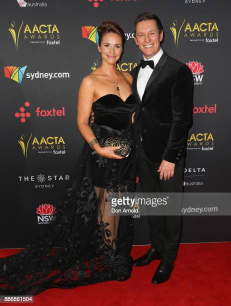 Tasma Walton and Rove McManus pose during the 7th AACTA Awards at The Star on December 6 2017 in Sydney Australia