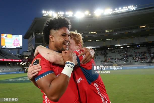 Tasman celebrates the win during the Mitre 10 Cup Final between Auckland and Tasman at Eden Park on November 28, 2020 in Auckland, New Zealand.