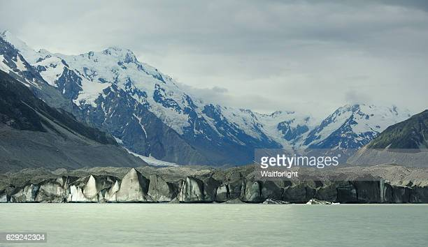 Tasman Glacier at Mount Cook in New Zealand