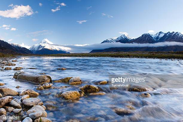 tasman valley stream - river stock pictures, royalty-free photos & images