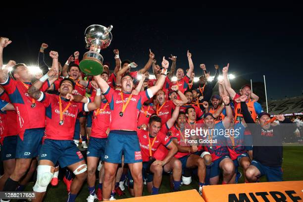 Tasman win the final during the Mitre 10 Cup Final between Auckland and Tasman at Eden Park on November 28, 2020 in Auckland, New Zealand.