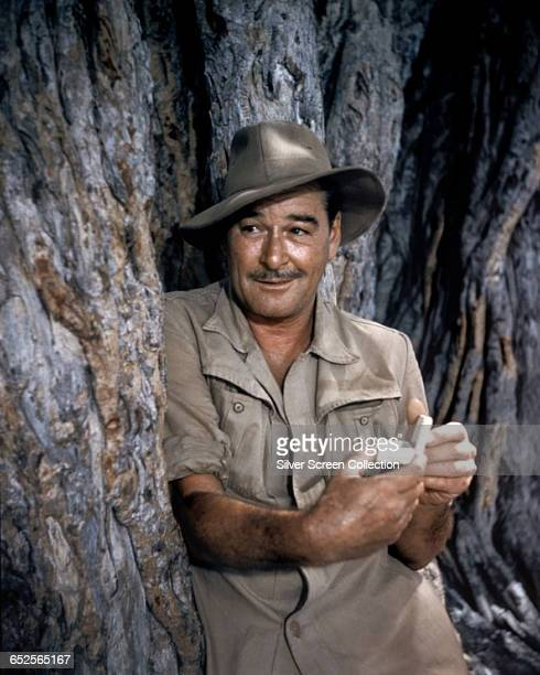 Tasmanian actor Errol Flynn as Forsythe in the adventure film 'The Roots of Heaven' directed by John Huston 1958