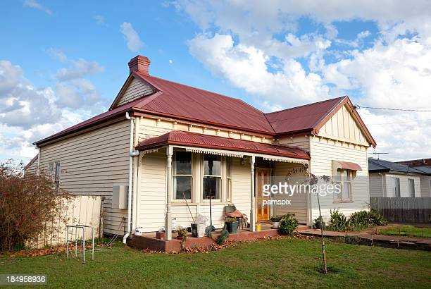 tasmanian cottage - run down stock pictures, royalty-free photos & images