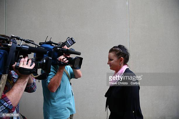 Tasmanian Senator Jaqui Lambie at her press conference announcing she has resigned from the Palmer United Party effective immediately to become...
