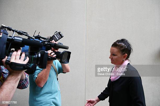 Tasmanian Senator Jaqui Lambie speaks at her press conference in Parliament House Canberra announcing she has resigned from the Palmer United Party...