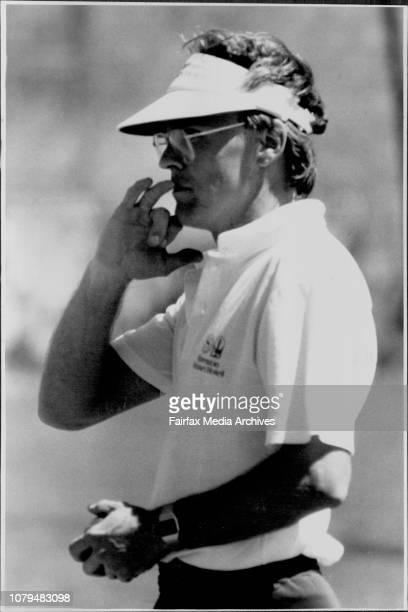 Tasmanian team in practice wicket at SCG this morning Dirk Wellham October 27 1989