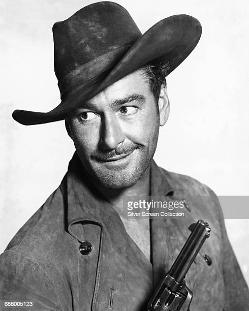 Tasmanianborn actor Errol Flynn in a publicity still for the western 'Rocky Mountain' 1950
