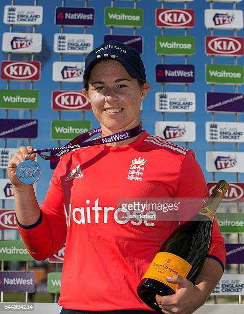 Tasmin Beaumont of England with the player of the match award after the 1st Natwest International T20 played between England Women and Pakistan Women...