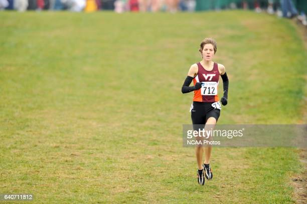 Tasmin Fanning of Virginia Tech University runs during the 2008 NCAA Women's Division I Cross Country Championship hosted by Indiana State University...