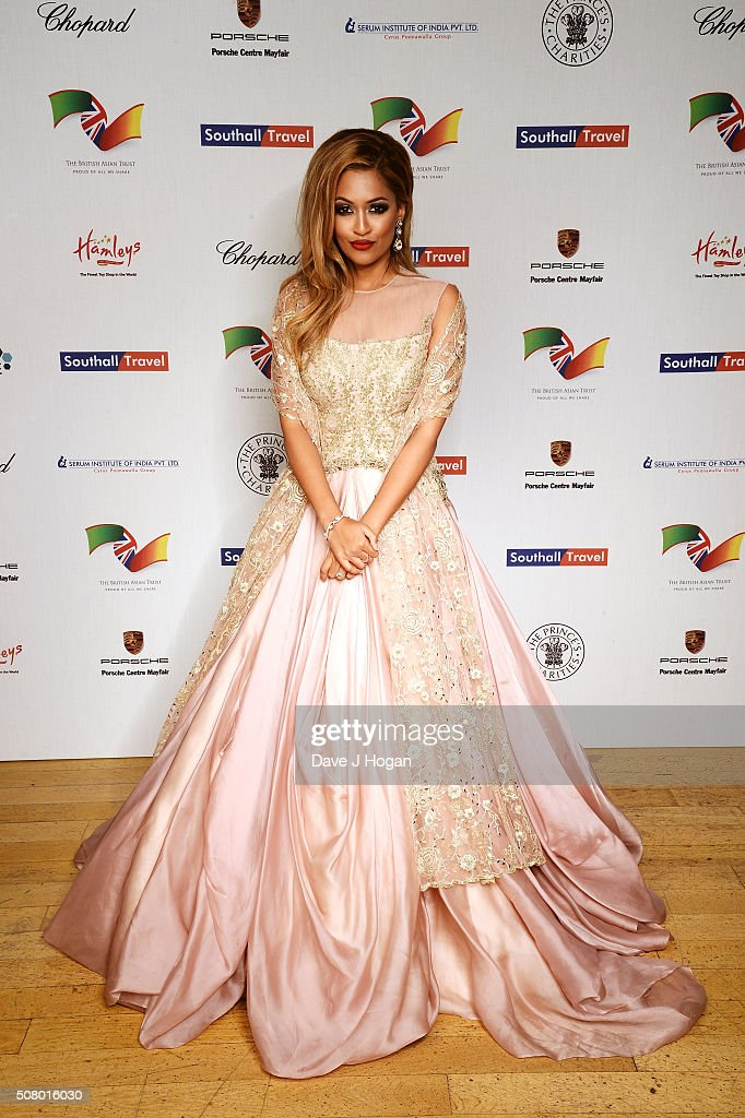 Tasmin Lucia Khan attends a reception and dinner for supporters of The British Asian Trust at Natural History Museum on February 2, 2016 in London, England.