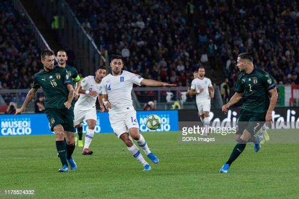 Tasos Bakasetas of Greece seen in action during the UEFA Euro 2020 qualifying match between Italy and Greece at the Stadio Olimpico in Rome