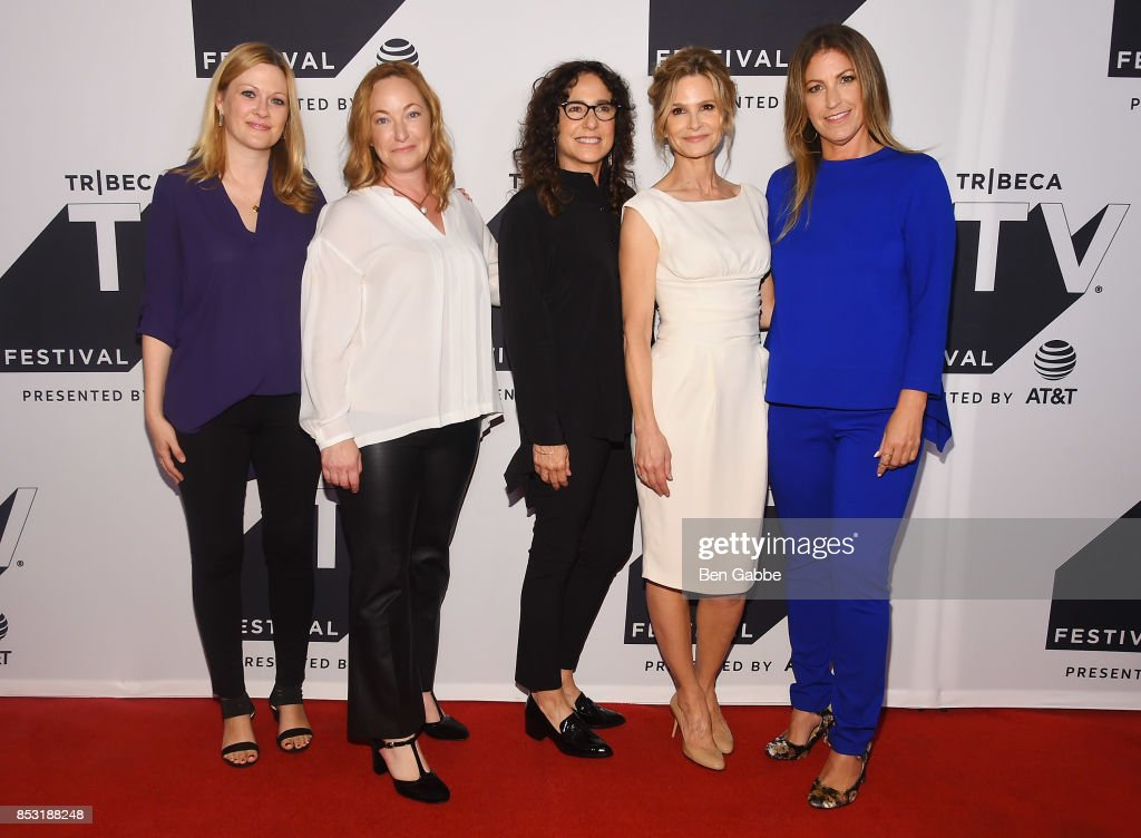 Tassie Cameron, Marcy Ross, Kyra Sedgwick and Jill Littman attend the Tribeca TV Festival series premiere of Ten Days in the Valley at Cinepolis Chelsea on September 24, 2017 in New York City.