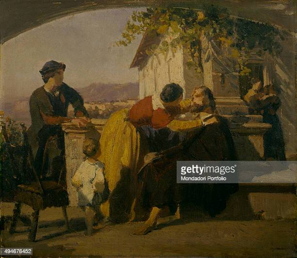 Tasso Recognized by His Sister in Sorrento , by Domenico Morelli, 1855-1856, 19th Century, oil on canvas Italy, Lazio, Rome, National Gallery of...