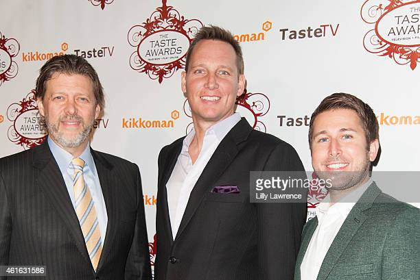 Taste Award nominees Todd Nelson Brant Pinvidic and Justin Lacob arrive at the 2015 Taste Awards at the Egyptian Theatre on January 15 2015 in...