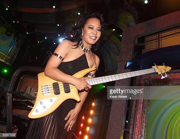 A Taste of Honey with JaniceMarie Johnson performs at the taping of 'American Bandstand's 50thA Celebration' at the Pasadena Civic Auditorium in...