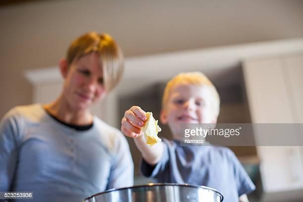 Geschmackvolle butter, die Cookies