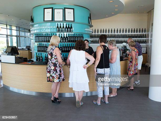 Tasting room at Elephant Hills winery in Hawkes Bay region New Zealand