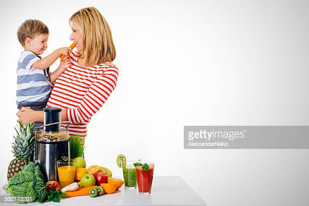Tasting the ingridients for a healthy juice