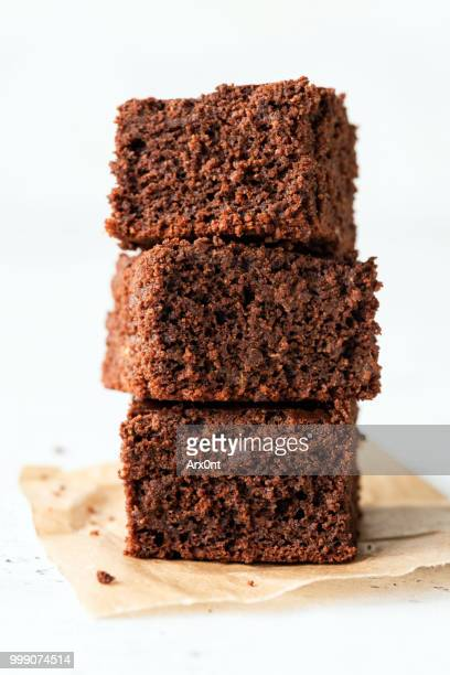 tasty chocolate brownies - brownie stock pictures, royalty-free photos & images