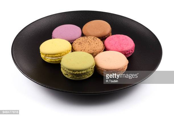 Tasty colorful macaroon isolated