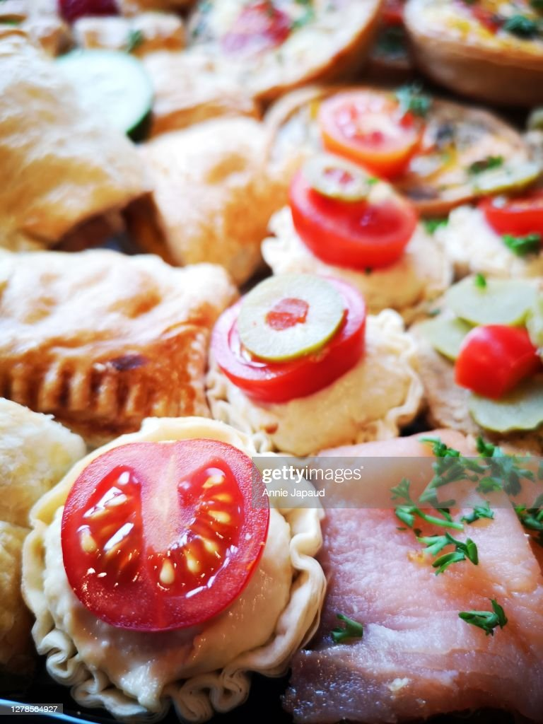 Tasty Party Platters With Savory Food Canapes High Res Stock Photo Getty Images