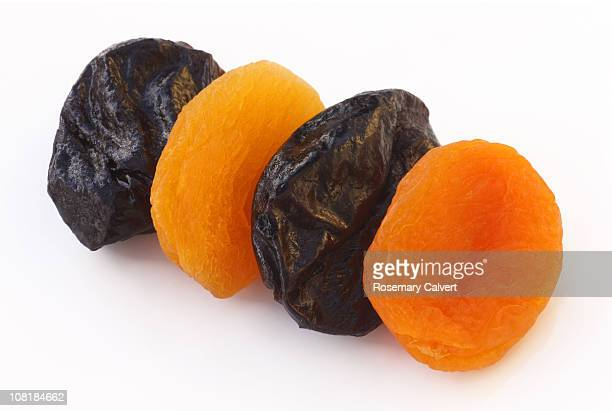 Tasty prunes and dried apricots.