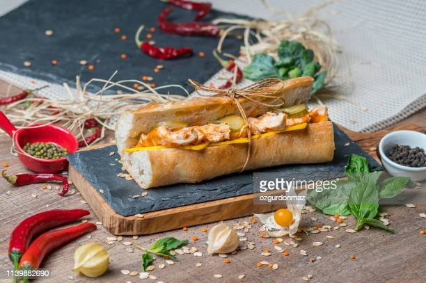 tasty sandwich - sesame stock pictures, royalty-free photos & images