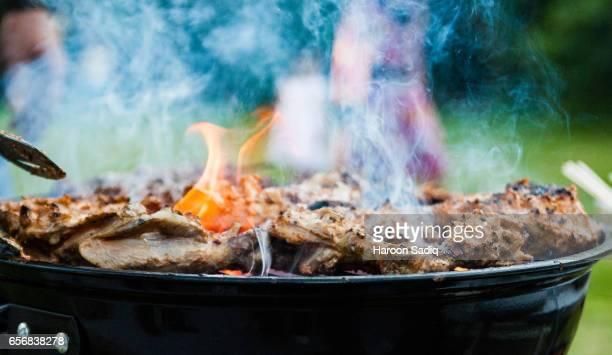 tasty tandoori bbq - chicken masala stock photos and pictures