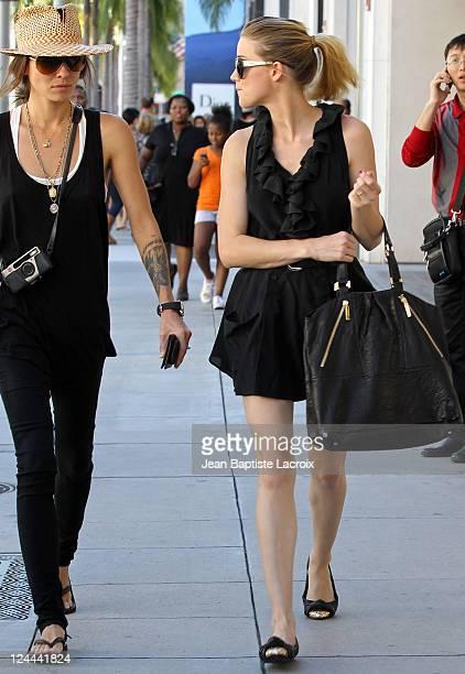 Tasya Van Ree and Amber Heard are seen on November 4 2010 in Los Angeles California