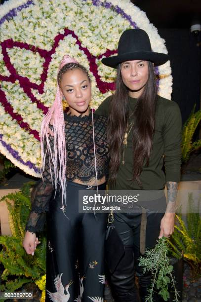 Tasya van Ree and AMiryam Lumpini at Living Beauty 'The Gift' Photo Exhibit at The Buterbaugh Gallery on October 19 2017 in Los Angeles California