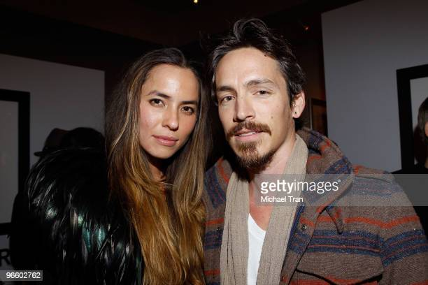 Tasya van Ree and Brandon Boyd attend the her Charity Photo Exhibition at The Celebrity Vault on February 11 2010 in Beverly Hills California