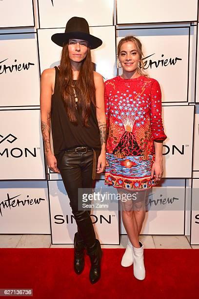 Tasya van Ree and Chelsea Leyland attend Interview Simon Tasya van Ree Celebrate Miami Curated @ArtBasel at Kaskades South Beach on December 1 2016...