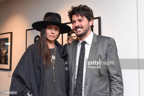 Tasya van Ree and Sebastien Leon attend Oliver Peoples x Tasya van Ree Celebrates Who is Oliver Exhibition at LECLAIREUR on February 13 2019 in Los...