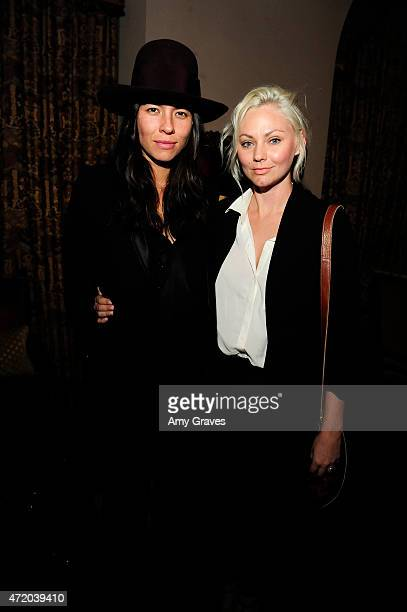 Tasya van Ree and Sydney Garrison attend the PHOTO Magazine Celebration of its Los Angeles Special Issue at the Chateau Marmont on May 2 2015 in West...