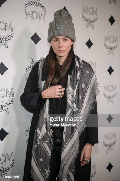 Tasya Van Ree arrives at the MCM Global Flagship Store Grand Opening On Rodeo Drive at the MCM Global Flagship Store on March 14 2019 in Beverly...