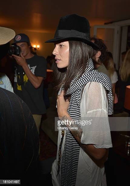 Tasya Van Ree attends Erik Brunetti's FUCT Book Release Party Presented By RVCA at Chateau Marmont on September 18 2013 in Los Angeles California