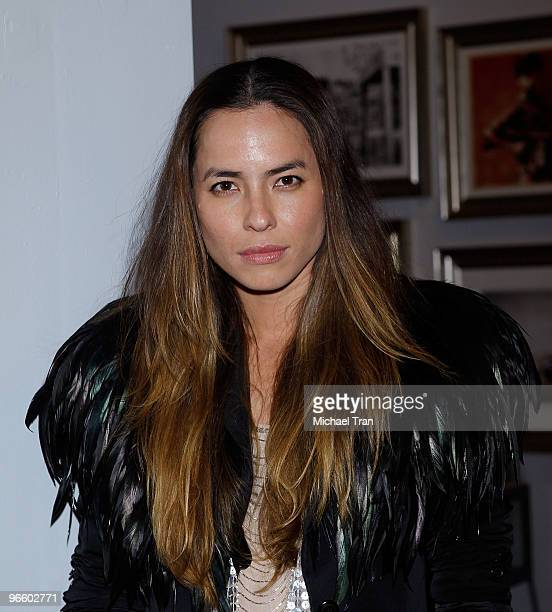 Tasya van Ree attends her Charity Photo Exhibition at The Celebrity Vault on February 11 2010 in Beverly Hills California