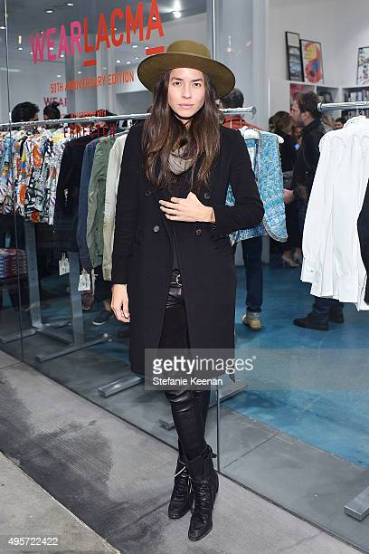 Tasya van Ree attends LACMA and Farfetch Celebrate The Launch Of Wear LACMA 50th Anniversary Edition at LACMA on November 4 2015 in Los Angeles...