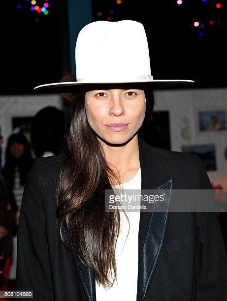 Tasya van Ree attends the celebration of a collaboration between Garrett Leight California Optical Clare V at Marvin on February 2 2016 in Los...