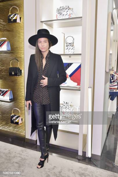 Tasya Van Ree attends the FENDI MANIA Capsule Collection Launch Event at Fendi on October 16 2018 in Beverly Hills California