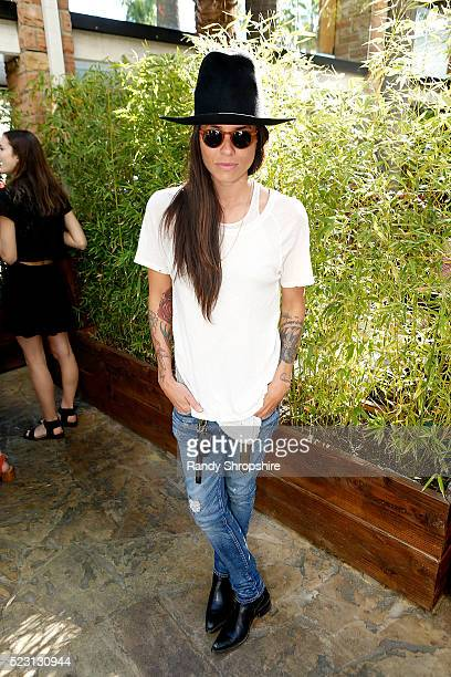 Tasya Van Ree attends the Villoid garden tea party hosted by Alexa Chung at the Hollywood Roosevelt Hotel on April 21 2016 in Hollywood California