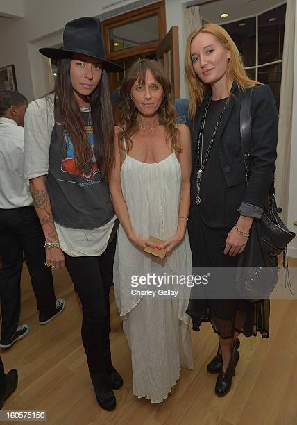 Tasya Van Ree designer Cheyann Benedict and Ruby Stewart attend the Cheyann Benedict store opening party on February 2 2013 in Los Angeles California