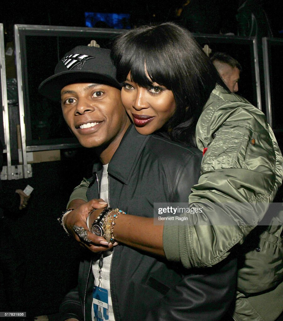 TaTa and model Naomi Campbell attends the D'USSE VIP Riser At Rihanna: ANTI World Tour at Barclays Center on March 27, 2016 in New York City.