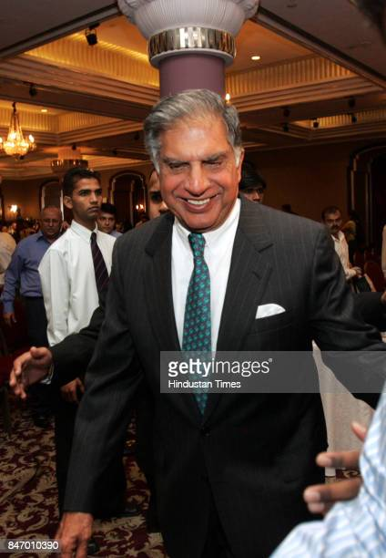 Tata group chairman Ratan Tata during a press conference at Hotel Taj. India's Tata Steel Ltd. Won approval from AngloDutch firm Corus Group for its...