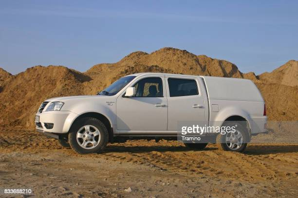 Tata Xenon on the unmade road
