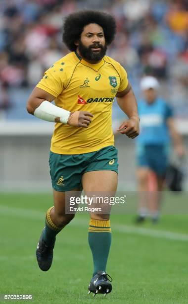 Tatafu PolotaNau of Australia looks on during the rugby union international match between Japan and Australia Wallabies at Nissan Stadium on November...
