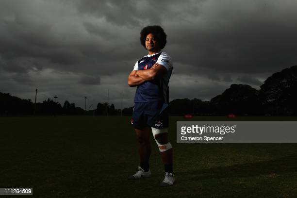Tatafu PolotaNau of the Waratahs poses for a portrait during a Waratahs training session at Moore Park on March 31 2011 in Sydney Australia